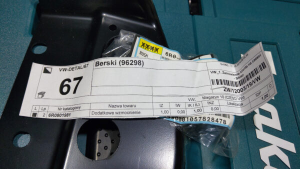 Bought some parts needed for battery relocation   6R0801981 IMAG8622