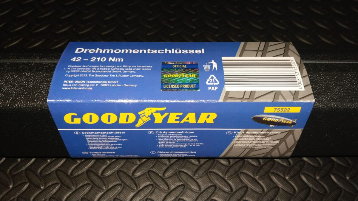 Goodyear 75521 Wheel Wrench 17/19 mm + Goodyear 75522 Torque wrench 42-210 Nm   IMAG1352 scaled