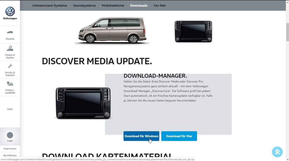 Discover Media — update maps to 2019/2020 (from official VW website)   pobieranie mapy 4