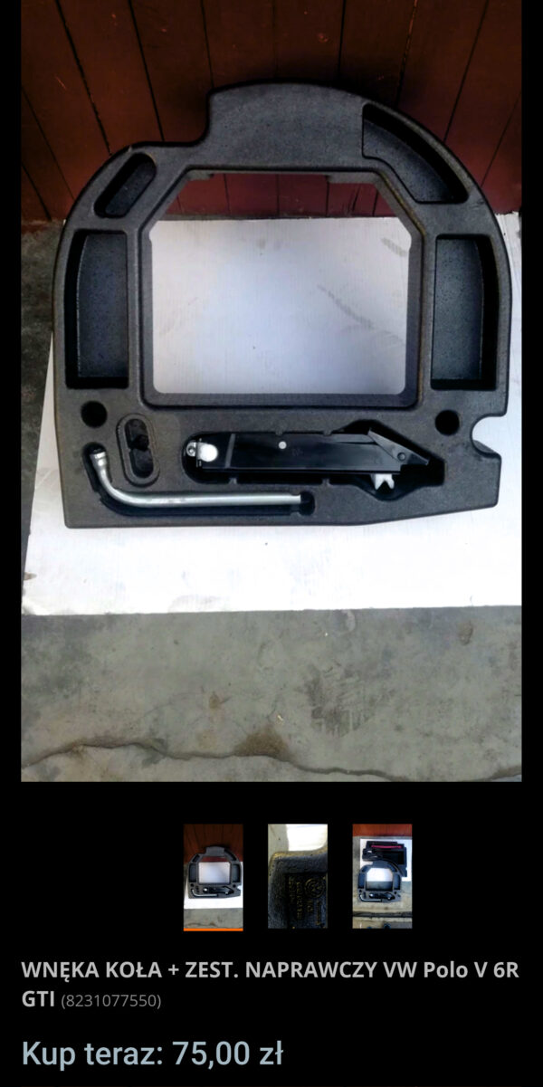 Bought some parts needed for battery relocation   6R0012115 screen allegro.pl wneka kola zest naprawczy vw polo v 6r gti