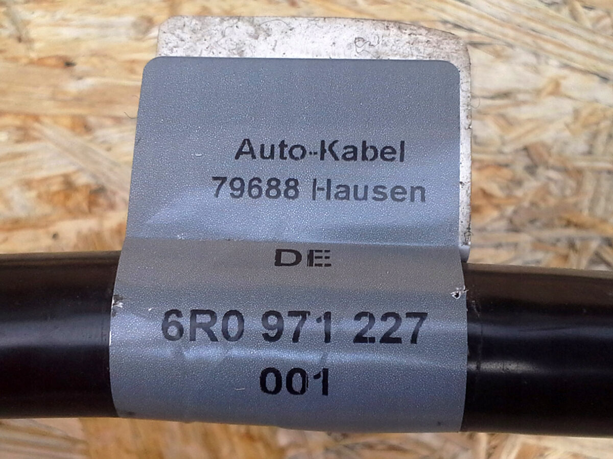 Bought some parts needed for battery relocation   6R0971227 AUDI A 1 WIAZKA KABEL AKUMULATORA 2