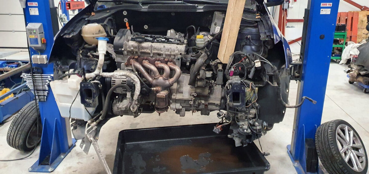 Old engine removed | CGGB bye